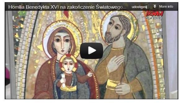 Tworzyć wspólnotę życia i miłości. Homilia Benedykta XVI