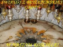 Betlejemskie Światło Pokoju w mikstackim kościele
