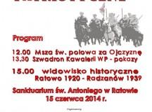 Sanktuarium w Ratowie zaprasza na IV  Spotkania Patriotyczne