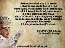 Jan XXIII: Różaniec pozwala widzieć szerokie pole do działania