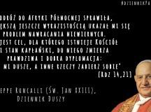 Giuseppe Roncalli (Jan XXIII): Celem Kościoła nawracanie niewiernych