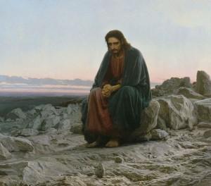 Kramskoy - Christ in the desert