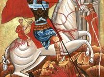 Św. Jerzy – rycerz zabijający smoka