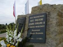 Otwarcie Parku Papieskiego w Rzeszowie z rodziną Pospieszalskich (fotogaleria)