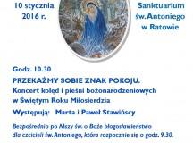 Pod patronatem Dziennika Parafialnego. Zaproszenie do Ratowa na koncerty bożonarodzeniowe w Świętym Roku Miłosierdzia