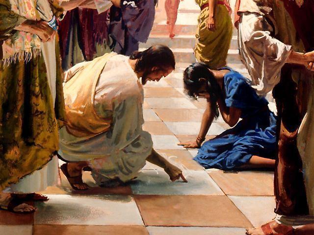 jezus i cudzołożnica