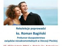 Zaproszenie na rekolekcje dla osób żyjących w związkach niesakramentalnych do Ostoi św. Antoniego w Ratowie