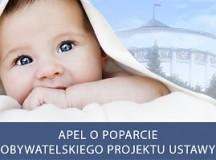 Wybierzcie życie zamiast śmierci – zaapeluj do posłów o poparcie obywatelskiego projektu ustawy zakazującej aborcji