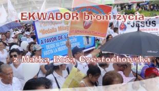 Ekwador broni życia z Matką Bożą Częstochowską