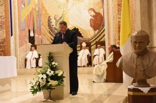Poświęcenie popiersia Jana Pawła II – daru Rycerzy Kolumba – w Sanktuarium Jana Pawła II w Krakowie
