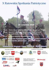 3 plakat X Ratowskie spotkania patrotycczne plakat 2020