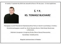 Zmarł ks. Tomasz Blicharz – współpracownik Dziennika Parafialnego
