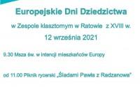 XI Europejskie Dni Dziedzictwa w zespole klasztornym w Ratowie